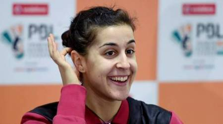 carolina marin, marin, marin pbl, premier badminton league, pbl 2016, pbl marin, badminton news, sports news