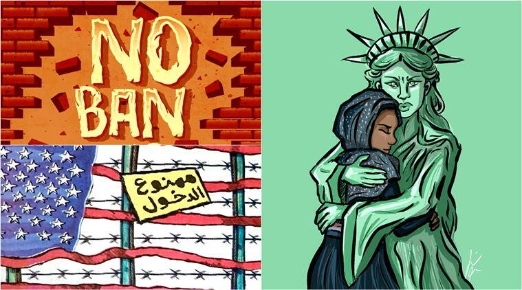 Image of: Png Donald Trump Donald Trump Cartoons Donald Trump Immigration Order Donald Trump Refugee Order Youtube People Have Been Sharing These 24 Cartoons After Donald Trumps