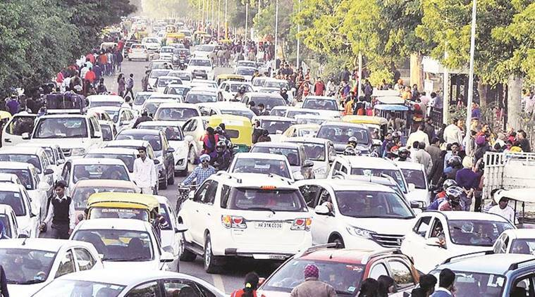 chandigarh, chandigarh new year, chandigarh traffic, new year traffic, india news, chandigarh news