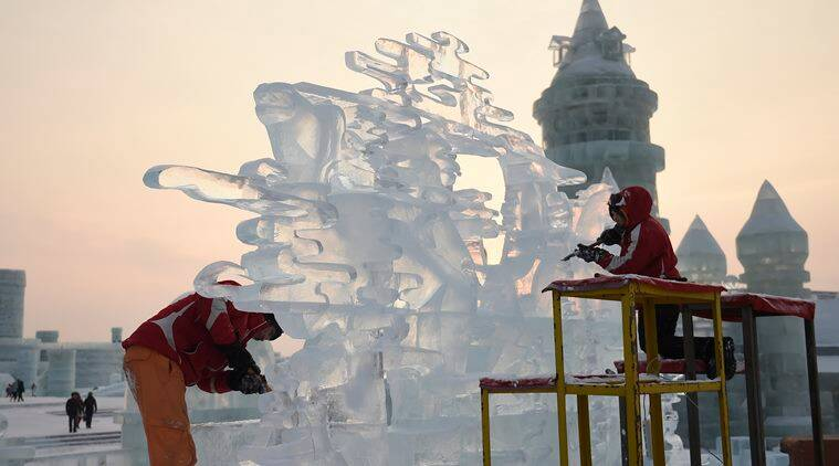 china icy plunge festival, china snow festival, china snow festival dates, harbin International Ice and Snow Sculpture Festival, china snow festival, new year plunge significance, indian express, indian express travel, travel destination of the week