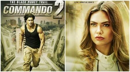 commando 2, commando sequel, vidyut jammwal, esha gupta, commando trailer, black money, demonetisation, adah sharma, freddy daruwala