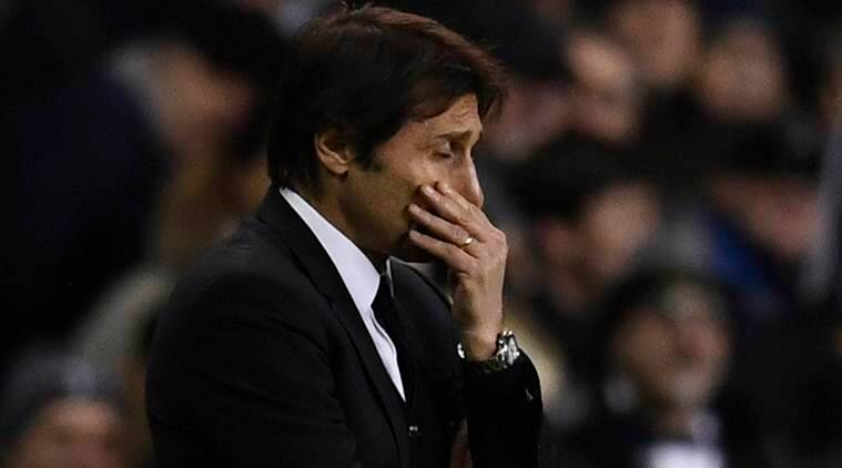 """Britain Football Soccer - Tottenham Hotspur v Chelsea - Premier League - White Hart Lane - 4/1/17 Chelsea manager Antonio Conte looks dejected Reuters / Dylan Martinez Livepic EDITORIAL USE ONLY. No use with unauthorized audio, video, data, fixture lists, club/league logos or """"live"""" services. Online in-match use limited to 45 images, no video emulation. No use in betting, games or single club/league/player publications. Please contact your account representative for further details."""