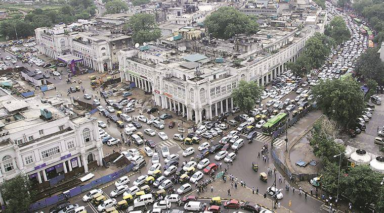 Connaught Place, Connaught Place vehicle free, NDMC on vehicle free CP, CP new delhi, CP metro, Arvind Kejriwal, Delhi CM, Delhi air pollution, indian express news