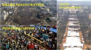 You want to compare crowds at Trump and Obama's inauguration? Here are some hilarious desi comparisons