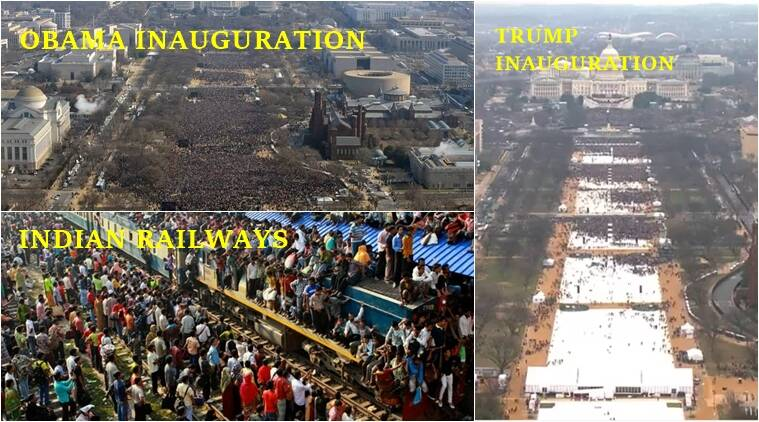 You want to compare crowds at Trump and Obama's ...