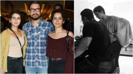 aamir khan piano, aamir khan fatima sana shaikh, aamir khan sanya malhotra, dangal girls, dangal aamir piano, fatima sana shaikh instagram picture, aamir khan secret superstar, aamir fatima sanya, dangal 400 crore, dangal records, aamir picture piani, aamir fatima, aamir tecahes piano, dangal news, aamir khan news, aamir news, fatimasana news, sanya malhotra news, bollywood updates, indian express, indian express news
