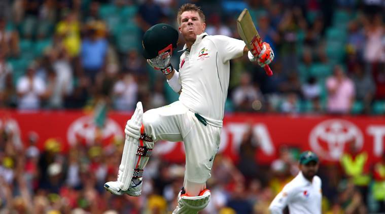 David Warner becomes first to score hundred before Lunch in ...