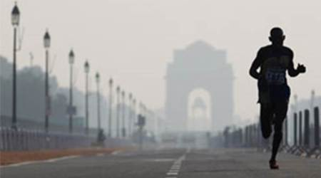 Generally cloudy Tuesday morning in Delhi