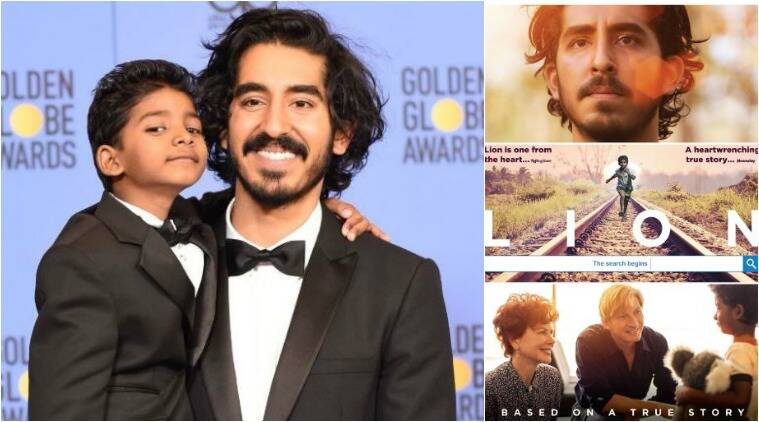 dev patel, lion, sunny pawar, dev patel sunny pawar, lion poster, lion teaser, golden globes 2017