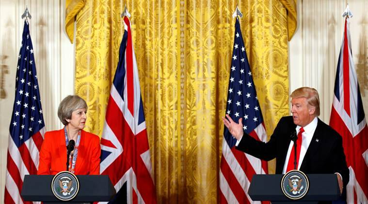 British PM May praises 'special relationship' with USA  before meeting Trump
