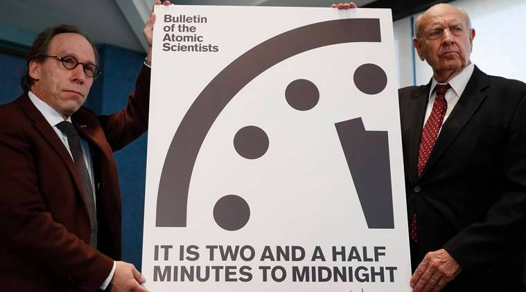 Thanks Trump: the Doomsday Clock Moves Closest To Midnight Since the 1950s