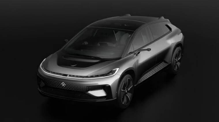 faraday future unveils electric vehicle ff91 in las vegas at ces rh indianexpress com
