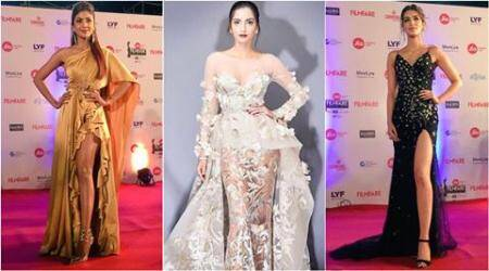 Shilpa Shetty, Sonam Kapoor, Kriti Sanon: High-slits and bold gowns rule Filmfare 2017 red carpet