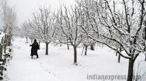 kashmir snowfall, kashmir heavy snowfall, Gulmarg snowfall, snowfall in valley, Heavy snowfall in Kashmir, Snowfall pictures, Kashmir current images, indian express news