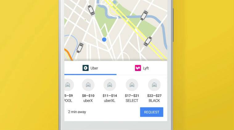 Google, Google maps, Uber, book uber on google maps, Lyft, ride apps, google maps integrated rider services, ios, android, book an uber, technology, technology news