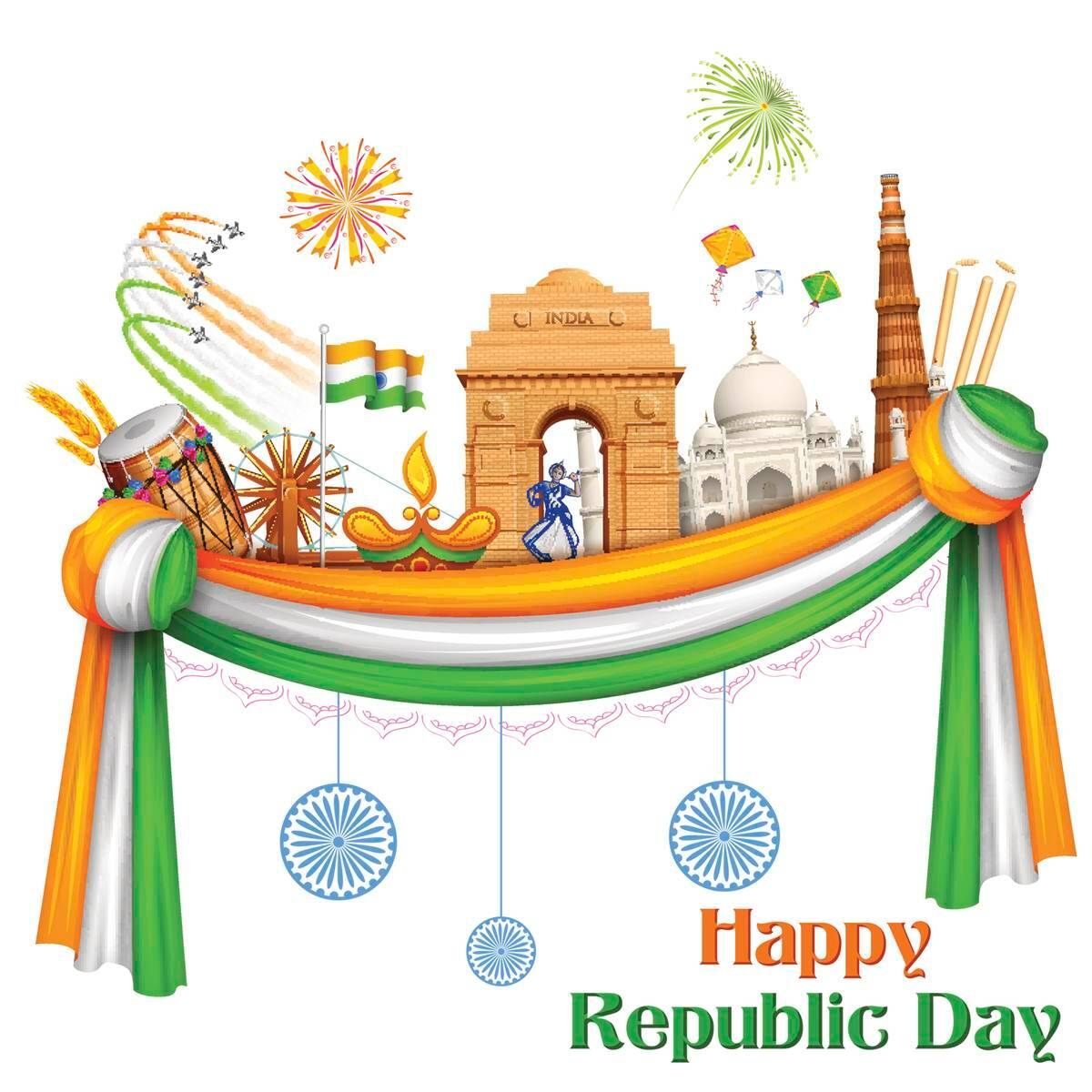 Happy Republic Day 2017 Wishes Sms Quotes Facebook Whatsapp Status Messages Greetings For Loved Ones Lifestyle News The Indian Express Happy republic day images 2021 muslim