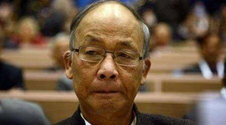 Okram Ibobi Singh, Okram Ibobi Singh, resignation, Ibobi singh to resign, Manipur, Manipur election results, Manipur government, Okram Ibobi Singh, Governor Najma Heptulla, BJP, Congress, Congress in Manipur, BJP in Manipur, India news, Indian Express
