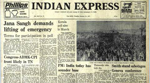Forty Years Ago, Forty Years Ago indian express, Jana Sangh Demands, January 25, 1977, latest news
