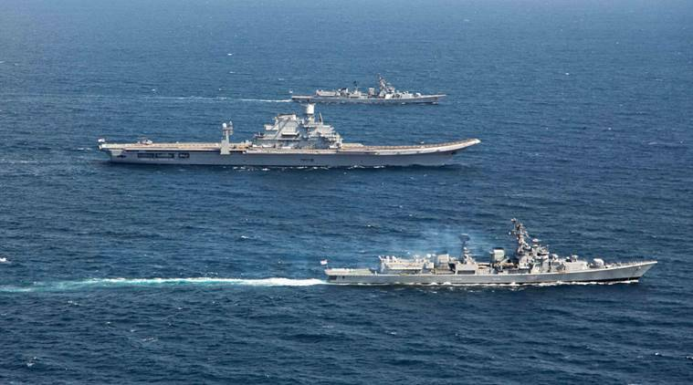 indian navy, navy exercise, singapore navy, india singapore, defence news, indian express