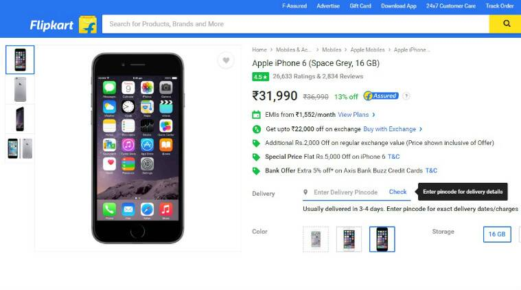 Apple, iphone 6 Rs 9,990, iphone 6 lowest price, iPhone 6 discounts, iPhone 6 flipkart, flipkart discounts, flipkart discounts on smartphones, iPhone exchange offer, iphone lowest price, technology, technology news