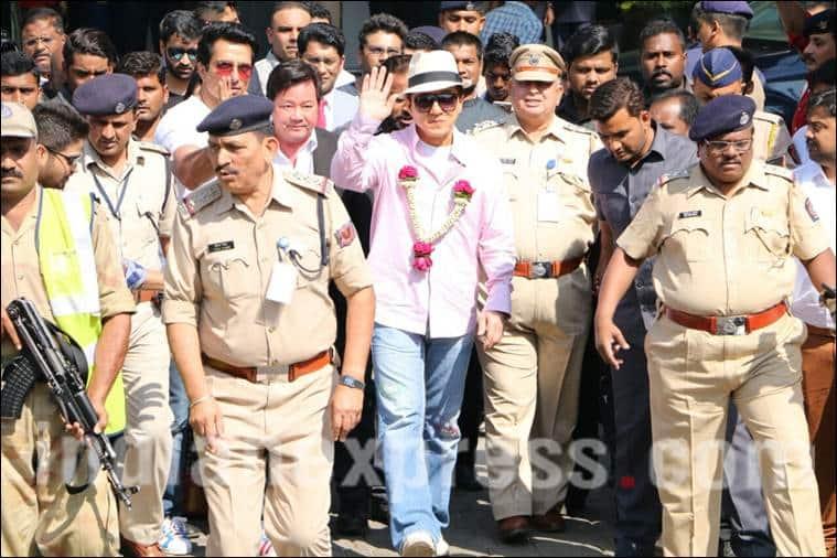 Jackie Chan, Jackie Chan india, Kung Fu Yoga, Jackie Chan film, Jackie Chan india visit, Jackie Chan upcoming film, Jackie Chan news, Jackie Chan pics, Sonu Sood, Sonu Sood film, Sonu Sood jackie chang