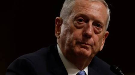 FILE PHOTO - Retired U.S. Marine Corps General James Mattis testifies before a Senate Armed Services Committee hearing on his nomination to serve as defense secretary in Washington, U.S. January 12, 2017.  REUTERS/Jonathan Ernst/File Photo