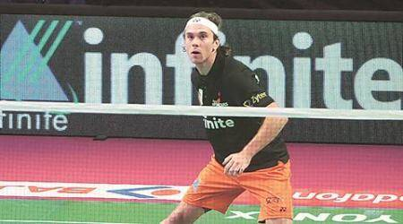 Jan O Jorgensen, badminton, denmark badminton player, Chen Long, china open, sindhu, olympics, jan cricket, cricket love, sports news, indian express sports, badminton news