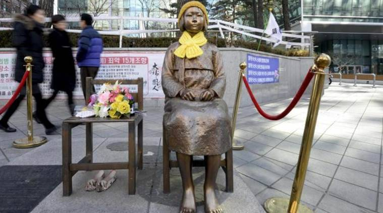 Comfort women, japan, south korea, Toshihiro Nikai, moon jae-in, Shinzo Abe