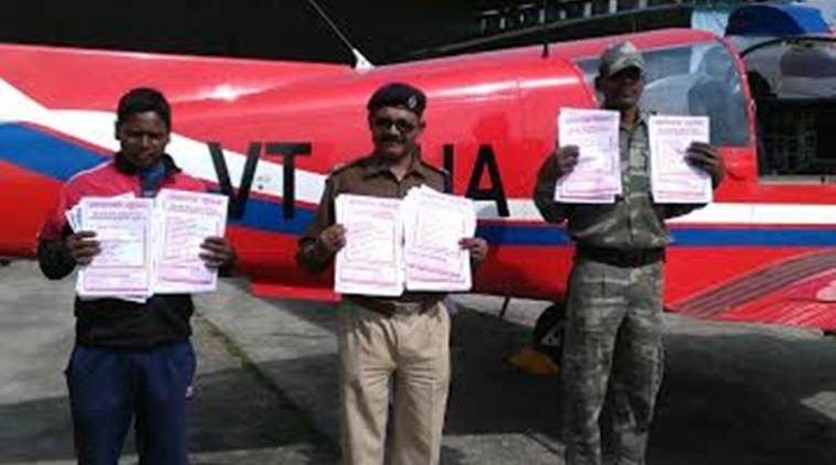 Jharkhand Police use light aircraft to drop pamphlets over naxal