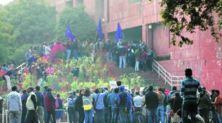 JNU, JNU admission protest, Jawaharlal Nehru University, Jawaharlal Nehru University student protest, Pranab Mukherjee, Pranab Mukherjee JNU, latest news, latest india news