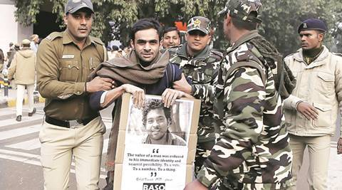 JNU students roughed up and detained by police