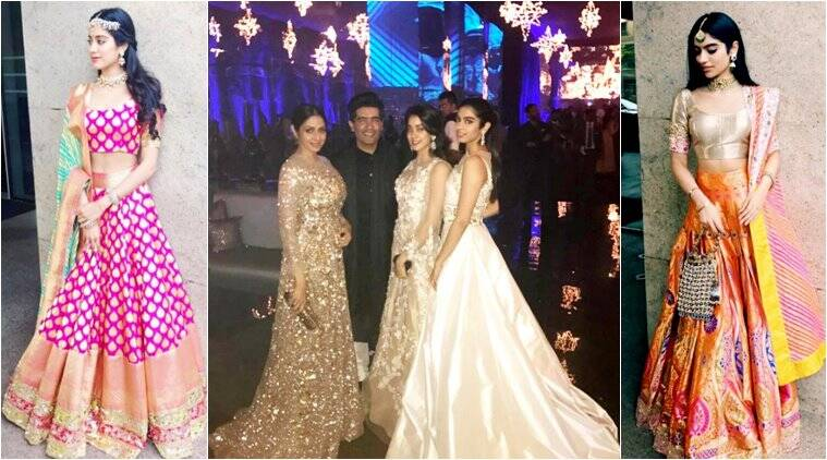 sridevi, jhanvi kapoor, khushi kapoor, celeb style, celeb kids, manish malhotra, manish malhotra designs, bollywood fashion, indian express, indian express news