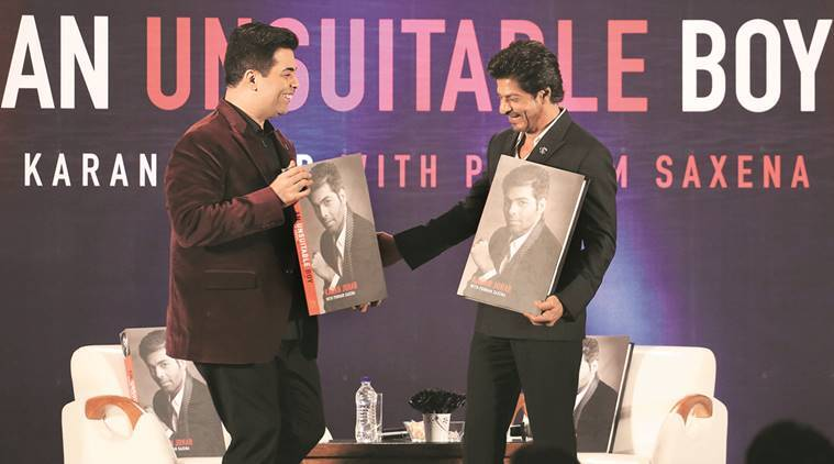 An entire chapter of An Unsuitable Boy is dedicated to Karan Johar's friendship with Shah Rukh Khan. Express Photo by Amit Chakravarty