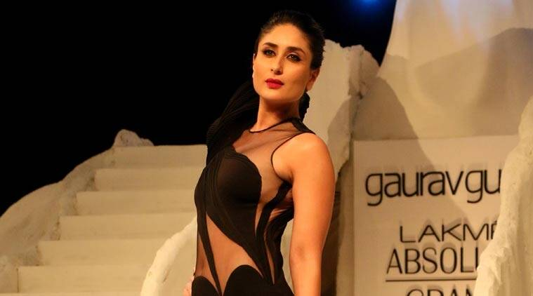 kareena kapoor, lakme fashion week, anita dongre, showstopper, indian express, indian express news