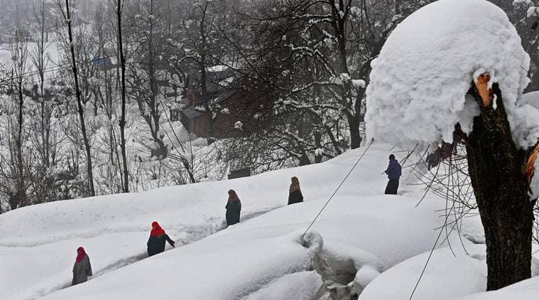 kashmir, kashmir snowfall, kashmir avalanche, high danger avalanche warning, india news, latest news