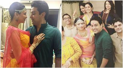 Inside pics of FIR fame Kavita Kaushik, boyfriend Ronnit Biswas's haldiceremony