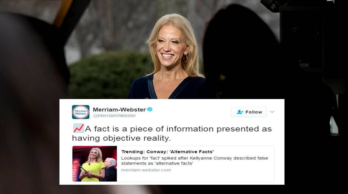 Merriam-Webster taunts Donald Trump on 'alternative facts' on ...