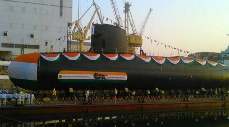ins khanderi, scorpene submarine, submarine launched, kalvari submarine, scorpene class submarine, khanderi submarine launched, scorpene khanderi, indian navy, india news
