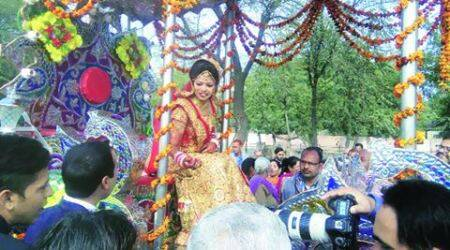 Haryana girl upends marriage ritual reserved forgrooms