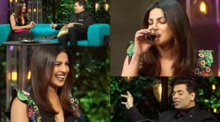 koffee with karan, Koffee with Karan priyanka chopra, priyanka chopra Koffee with Karan, priyanka chopra karan johar, karan johar personal question Koffee with Karan, priyanka chopra phone sex, priyanka chopra kissed ex, priyanka chopra sex life, priyanka chopra personal life, priyanka chopra hollywood projects, priyanka chopra gk test Koffee with Karan, karan johar priyanka chopra, priyanka chopra india visit, priyanka chopra, priyanka chopra red carpet rocker, karan johar, television news, television updates, entertainment news, indian express news, indian express