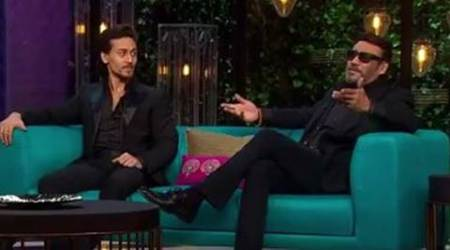 koffee with karan season 5, koffee with karan, jackie shroff, tiger shroff, tiger shroff jackie shroff, munna michael, indian express, indian express news