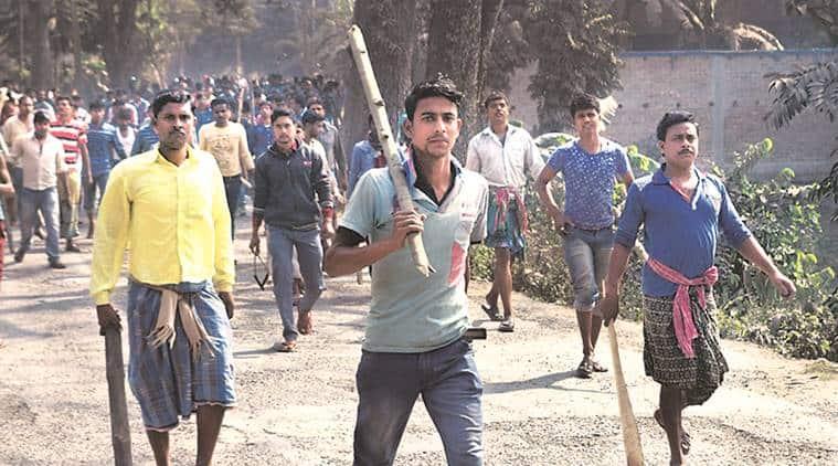 Bengal land protests, bengal land fight, land protest, land acquisition, kolkata hospital, kolkata police, kolkata land firing, South 24 Parganas protest, indian express news, kolkata news, india news