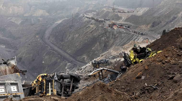 mine collapse, jharkhand mine collapse, godda, lalmatia, coal mine collapse, jharkhand mine, jharkhand mine accident, mine accident, mine accident death, mine accident death toll, mine accident update, india news