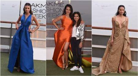 LFW Summer/Resort 2017: Sonakshi Sinha walks the ramp for Monisha Jaising on a luxury cruise ship