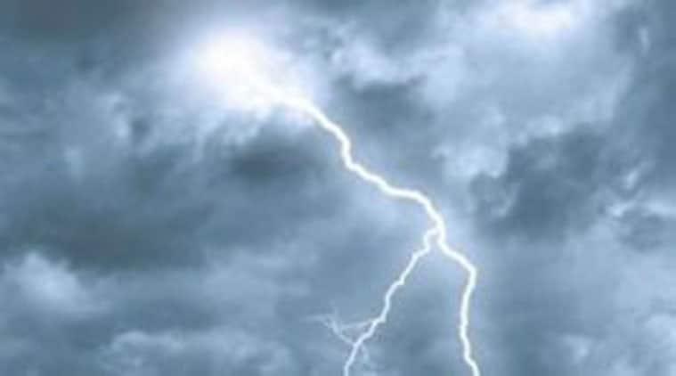 lightning, bihar, andhra pradesh, states, anantapuram district, village, gaya, fire, forest, met department, lodhi road, isro, bhagalpur, gopalpur, climate, temperature, indian meteorological department, imd, india news, indian express news