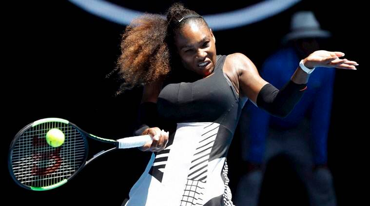Serena Williams back in action, playing first match since giving birth