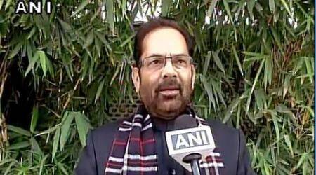 UP government, UP new government, UP development under new government, UP new CM, Mukhtar Abbas Naqvi, indian express news