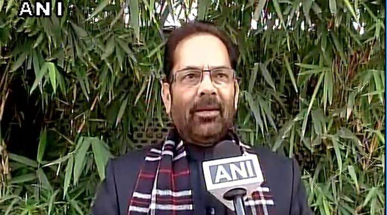PM Modi, Narendra modi, PM Modi, Mukhtar Abbas Naqvi, Naqvi slams Rahul Gandhi, Rahul comments on PM Modi, UPA government, indian express news