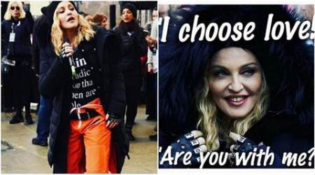 Madonna explains her speech at Women's March, see pics