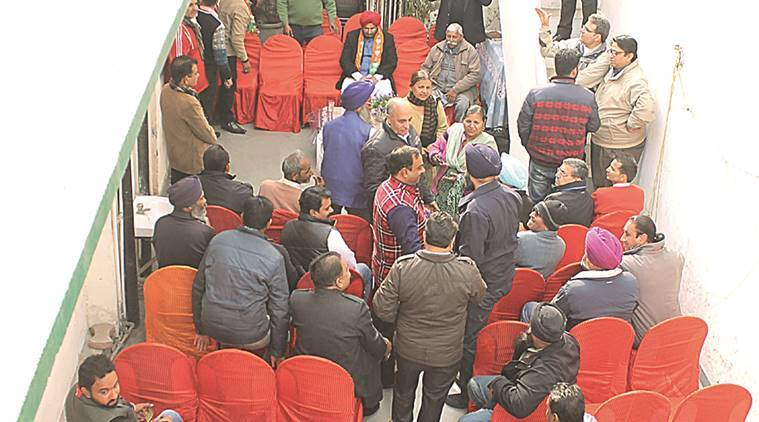 Several seats go empty at a campaign meeting by J J Singh. Harmeet Sodhi
